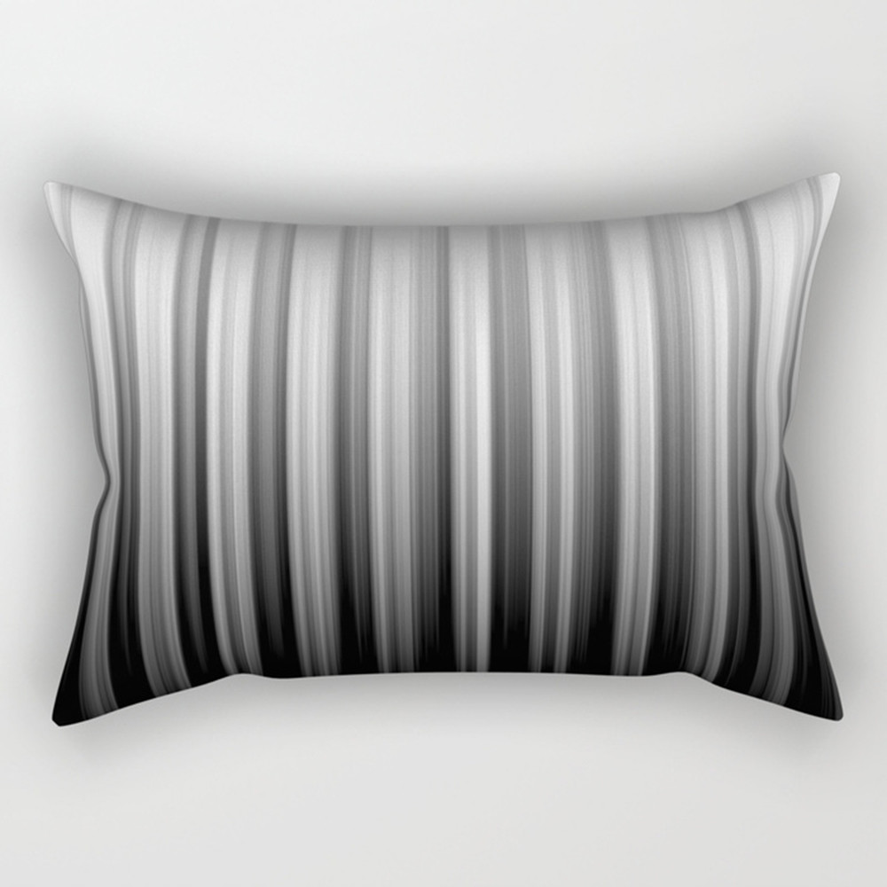black and white soft lines rectangular pillows o08vx9