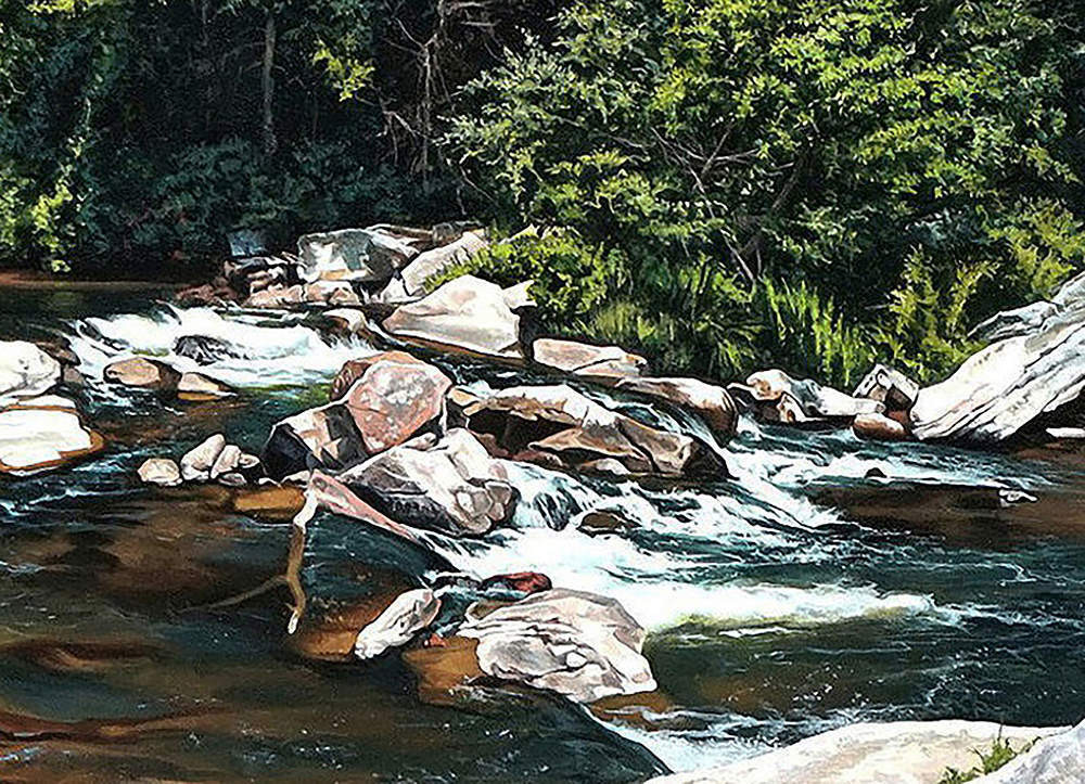 Kevin-Grass-Upper-Linville-Falls-detail-1-Acrylic-on-panel-painting-hufer3