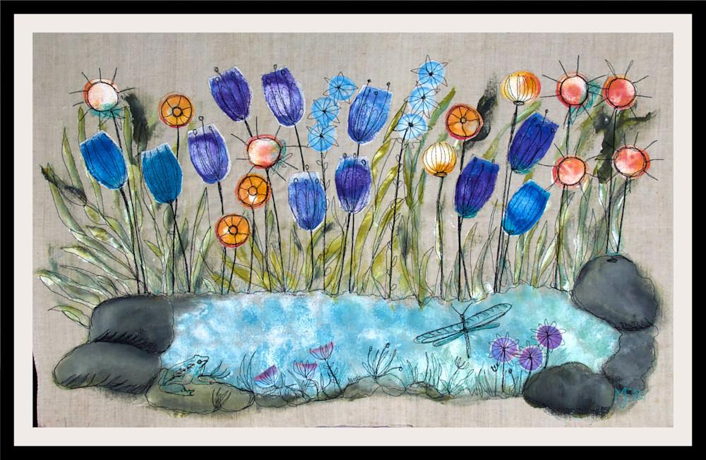 collage-pond-framed-qflsrx
