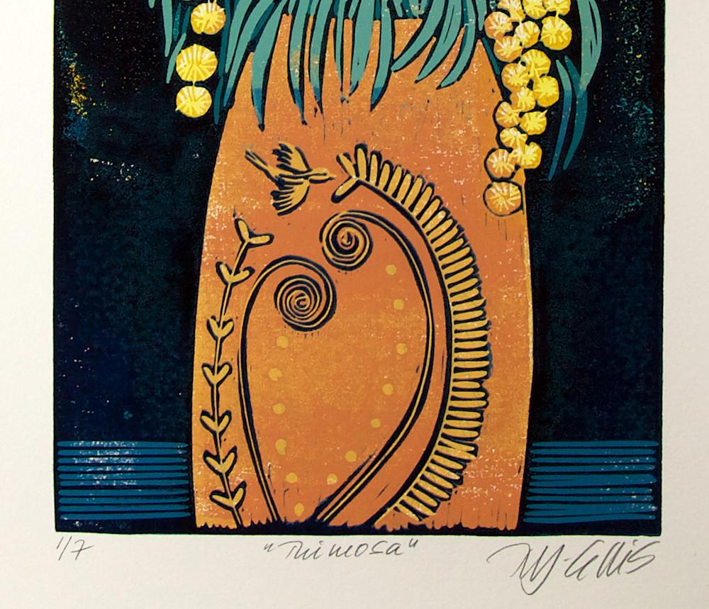 Mimosa orange vase signature