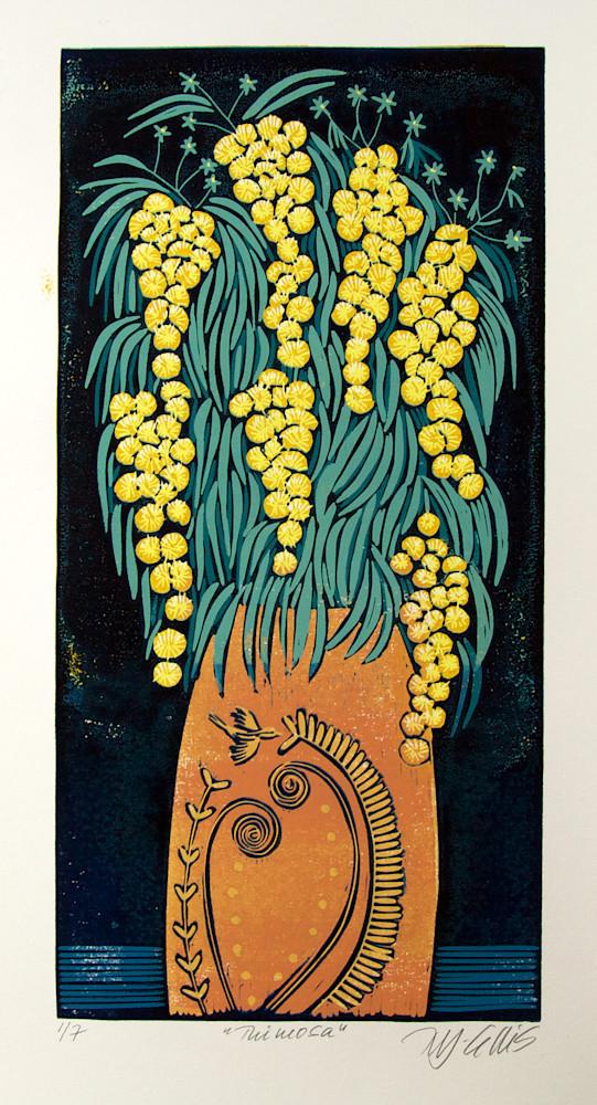 Mimosa orange vase