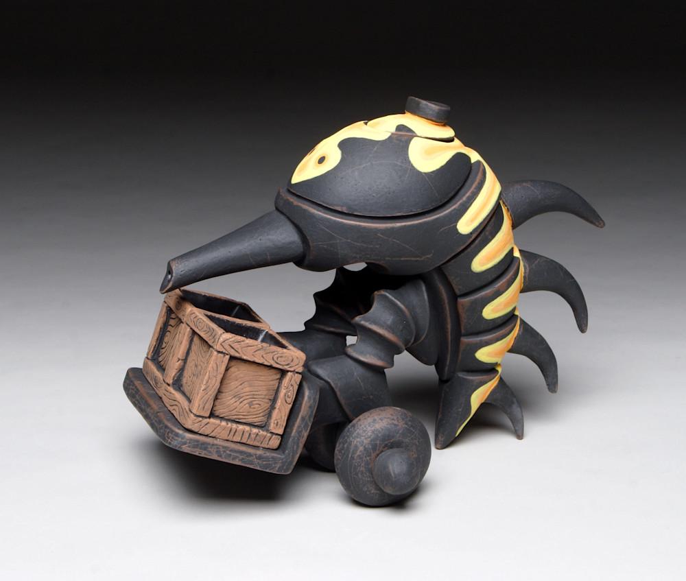 dung beetle teapot