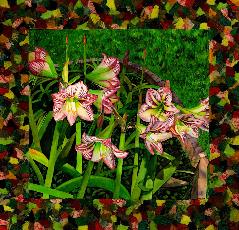 red and white lilies small