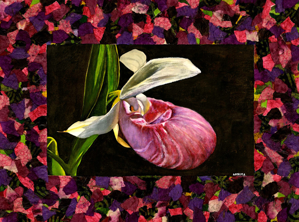 Pink Lady's Slipper Orchid small