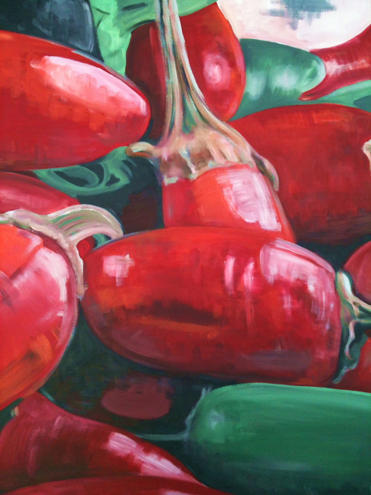 Red hot chilli peppers by Steph Fonteyn