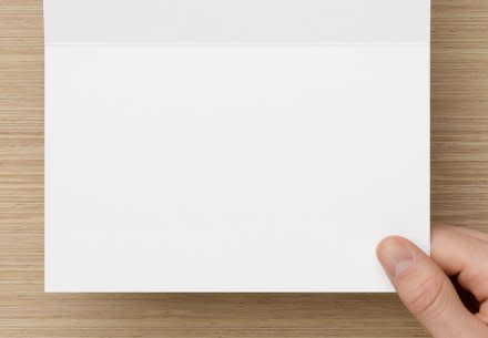 Blank Inside H Fold