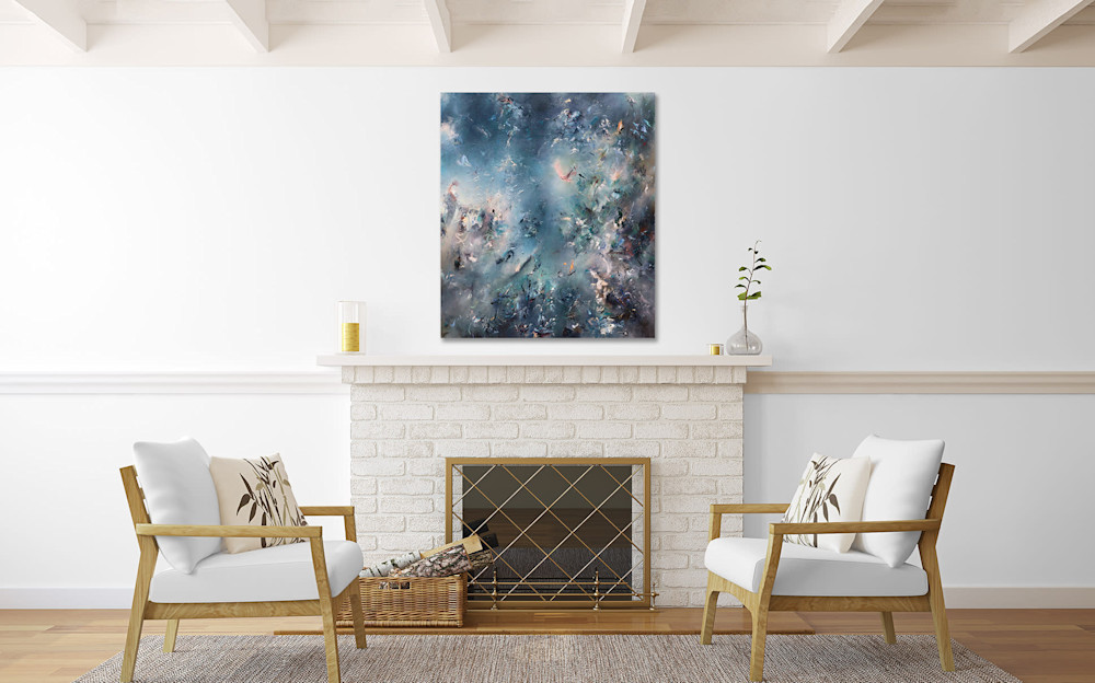 morning dream over fireplace