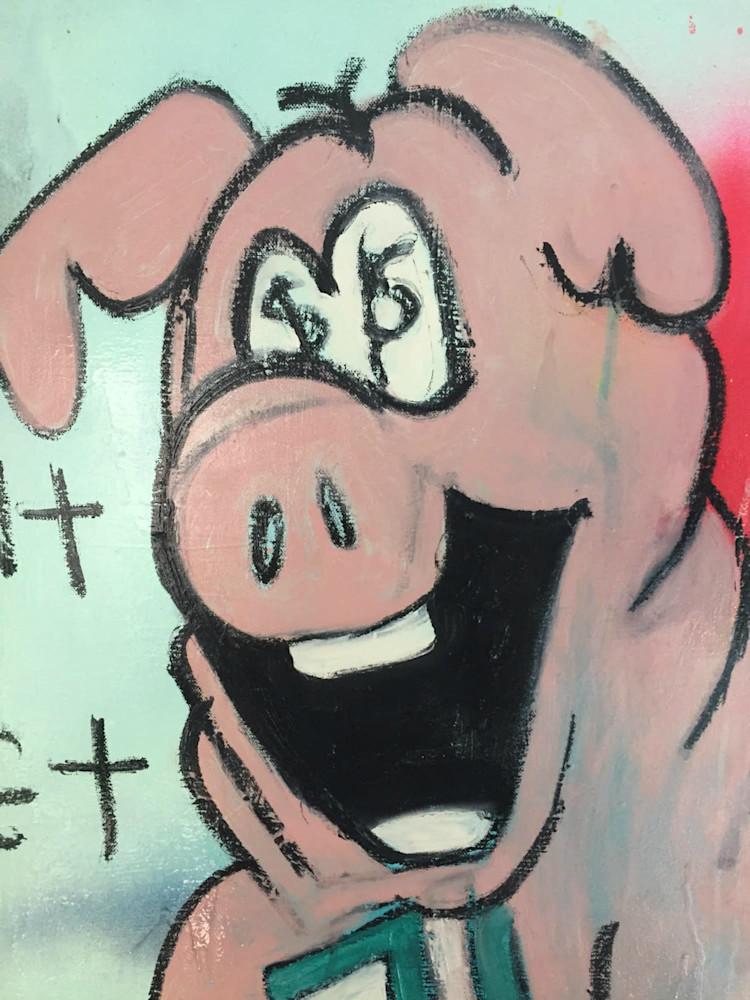 close up detail little piggy