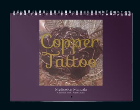 Meditation Mandala Calendar by Copper Tattoo 2018