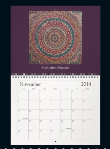 Meditation Mandala Calender Nov