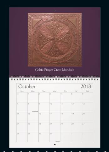 Meditation Mandala Calendar Oct
