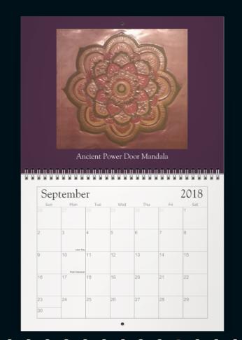 Meditation Mandala Calender Sept