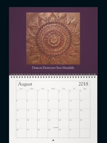 Meditation Mandala Calender Aug