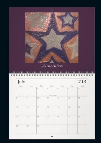 Meditation Mandala Calender July 2018