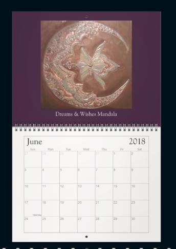 Meditation Mandala Calendar June 2018
