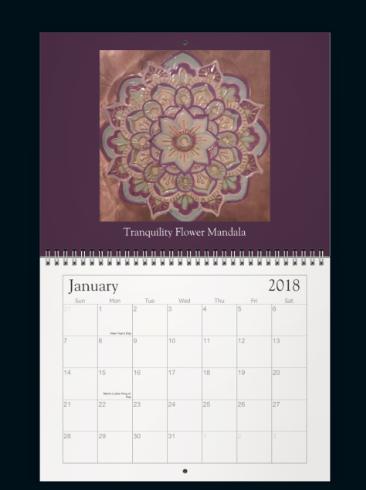 Meditation Mandala Calendar Jan