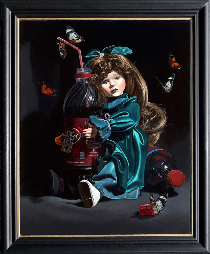 Kevin Grass Sugar Baby framed Acrylic on panel painting