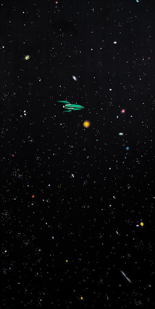 Raquel Fornasaro Planet Express Oil on Canvas 2017
