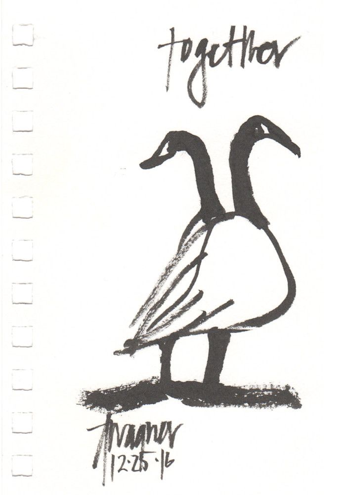together two geese