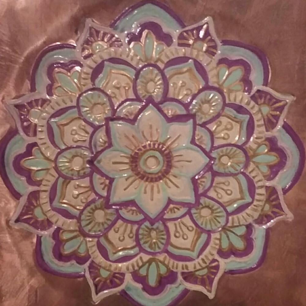 Tranquility Flower Mandala Print