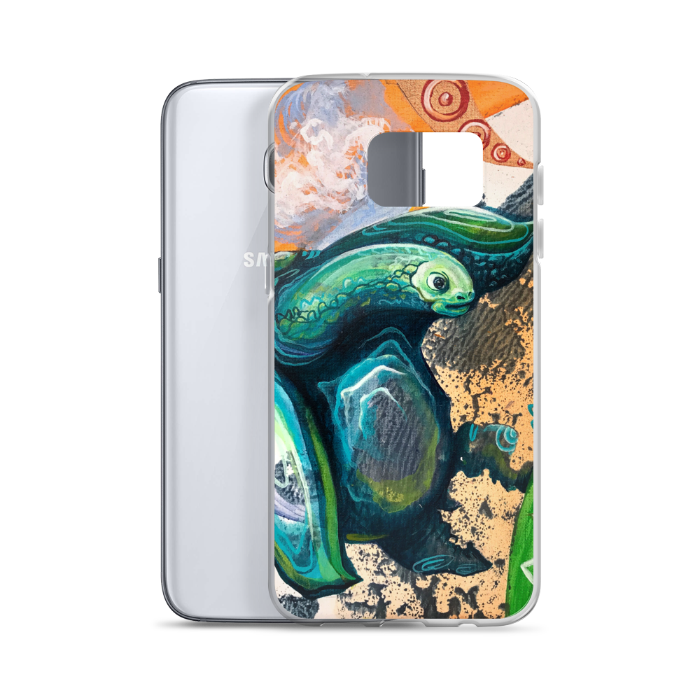 TURTLE0 OG SIZE mockup Case with phone Samsung Galaxy S7 Edge