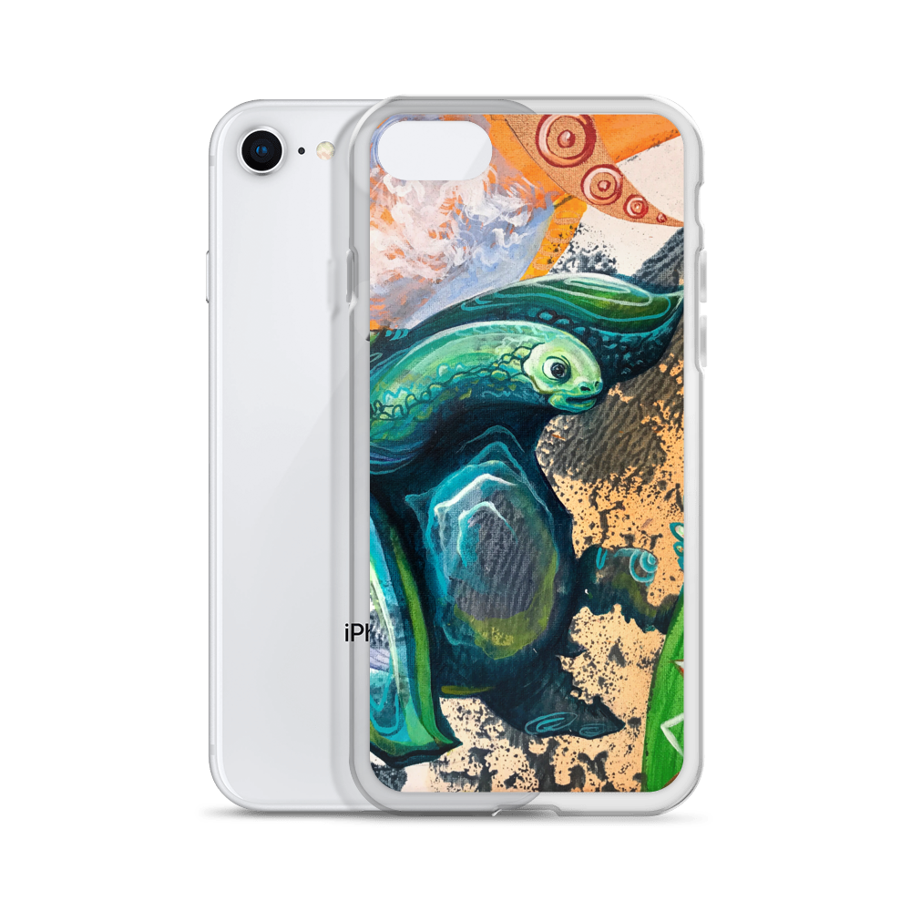 TURTLE0 OG SIZE mockup Case with phone iPhone 78