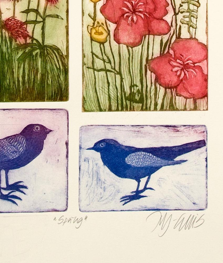 Spring blue signature