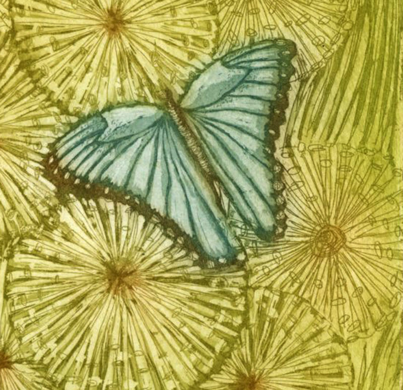 blue butterfly detail