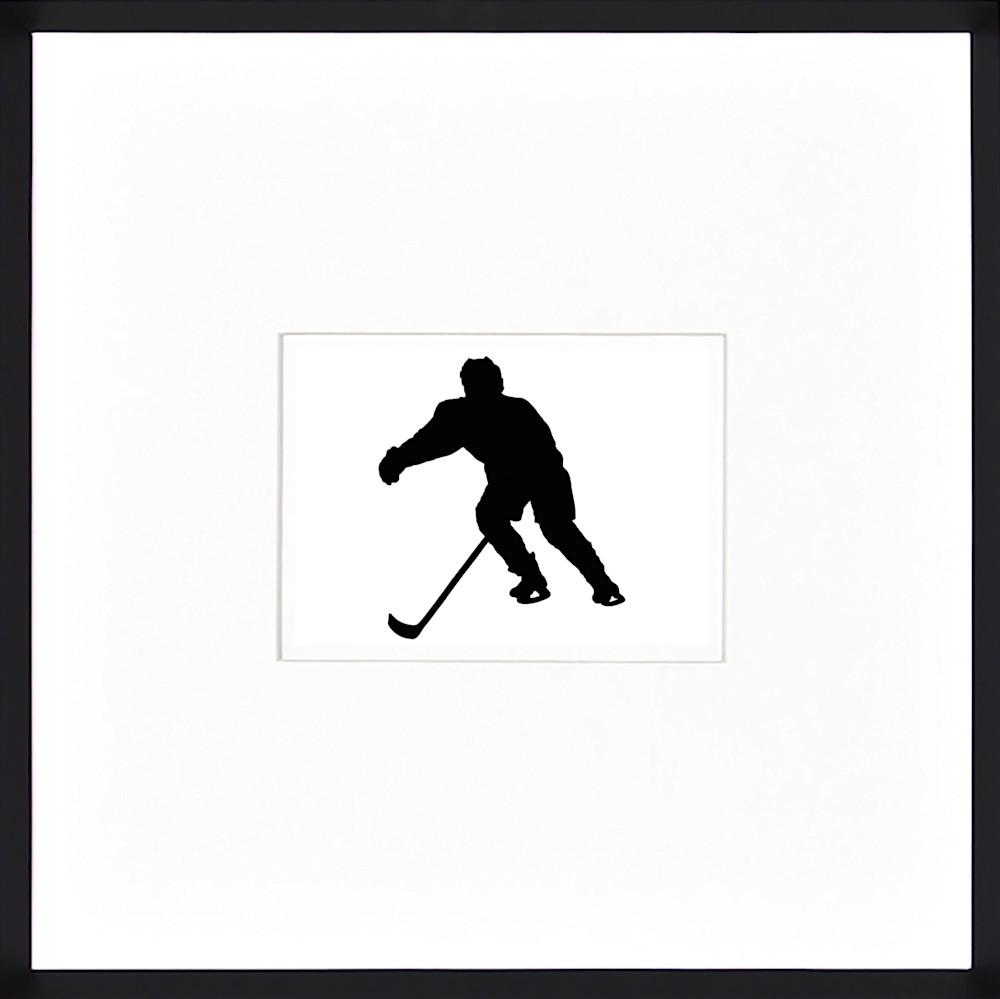 1Hockey DM silhouette framed
