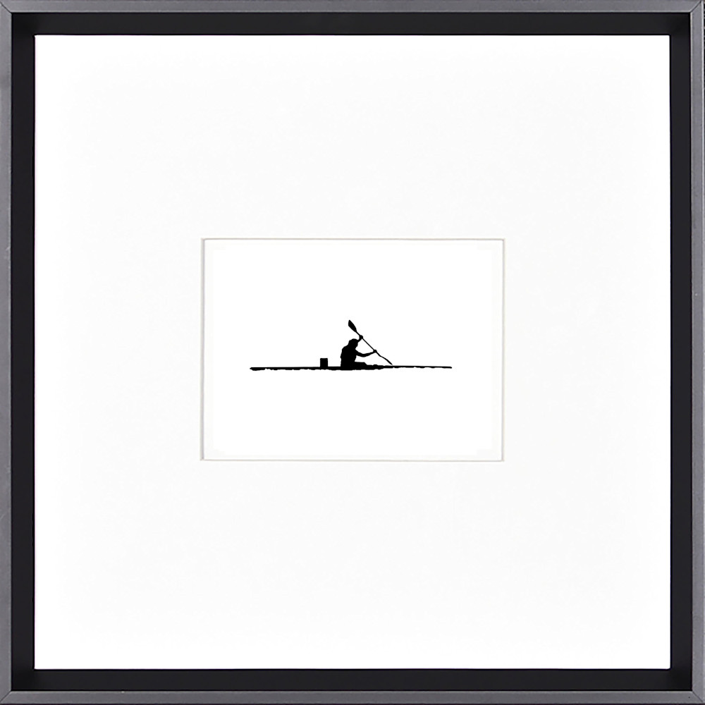 Westwater paddling silhouette framed