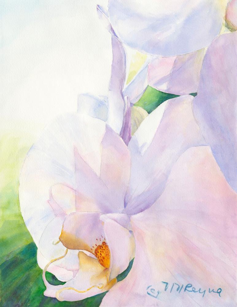 Purple Flower W Signature