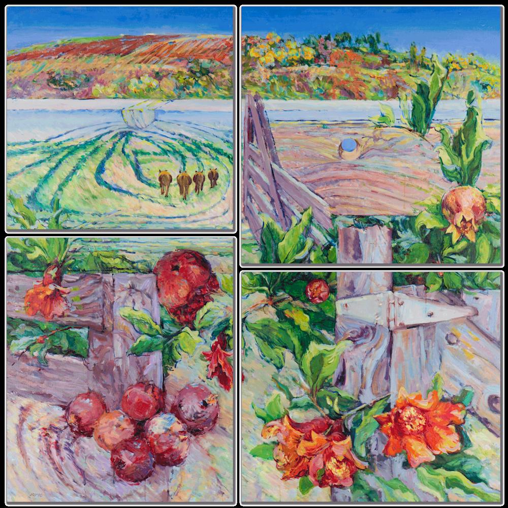 Spring Farm Mulit Panel Wall Art
