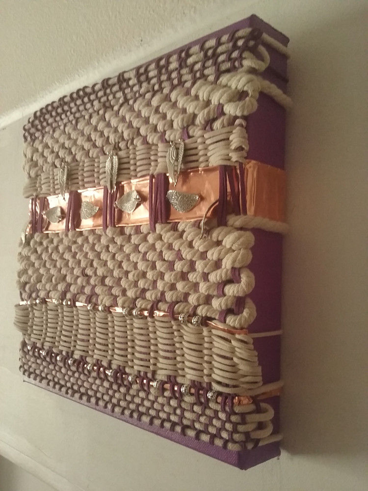Artisan Weaving in Amethyst and Ivory 9