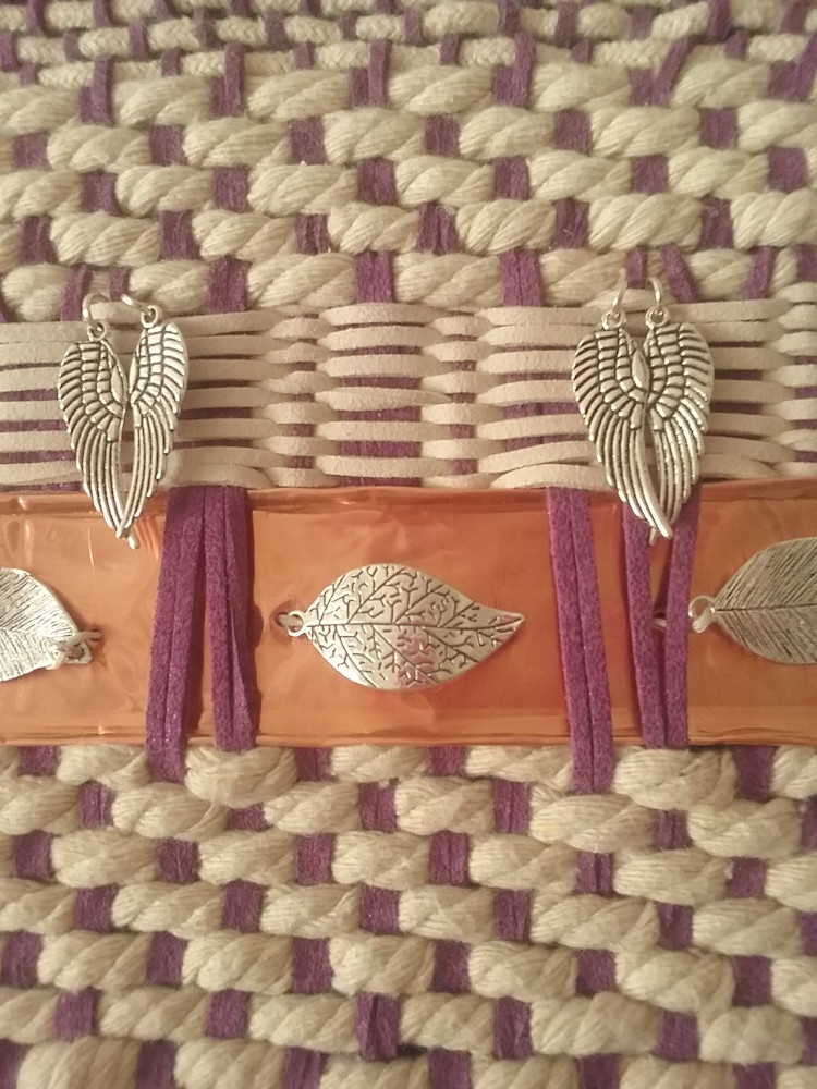 Artisan Weaving in Amethyst and Ivory 6