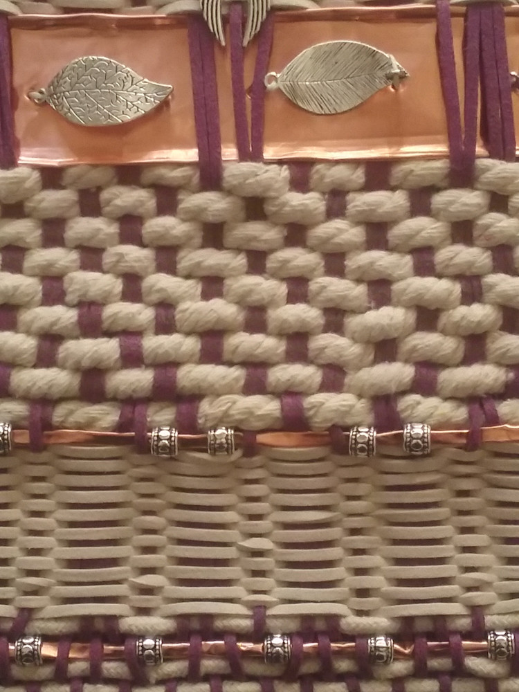 Artisan Weaving in Amethyst and Ivory 3