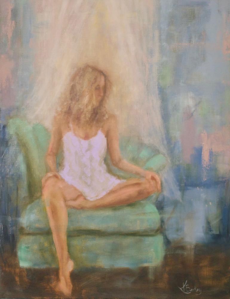 Green Chair Kelly Berkey Oil on linen 24x18 $1495