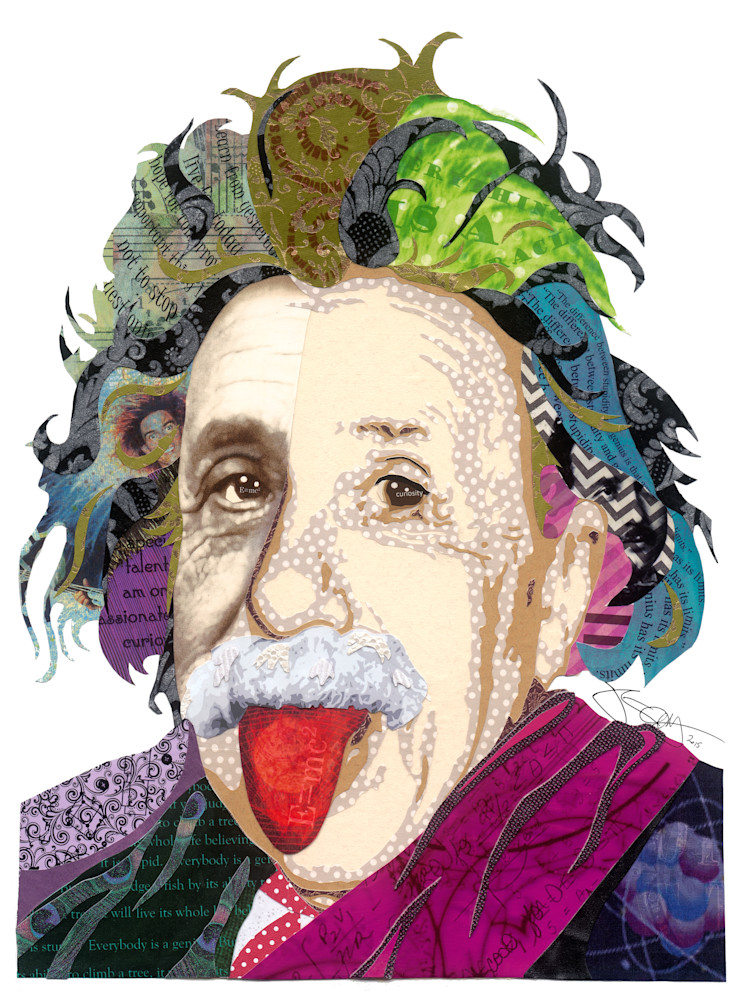 Einstein 12x16 signed