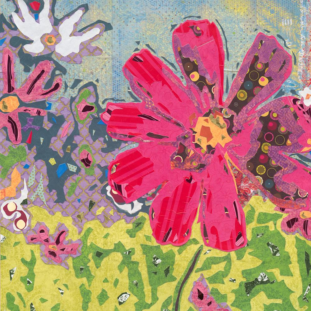 Flower Print Collaged