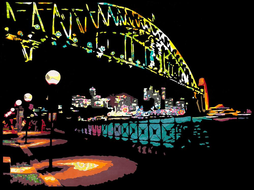 Bridge at Night 12x16