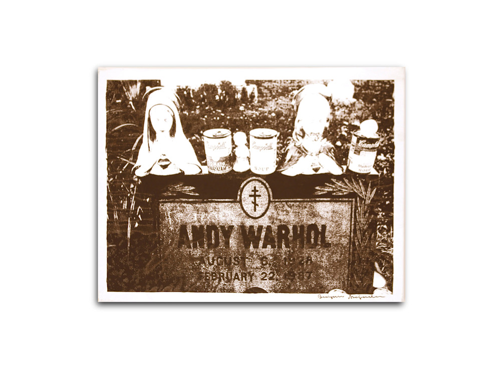 Untitled Andy Warhol Gravesite White Benjamin Alejandro 20X26
