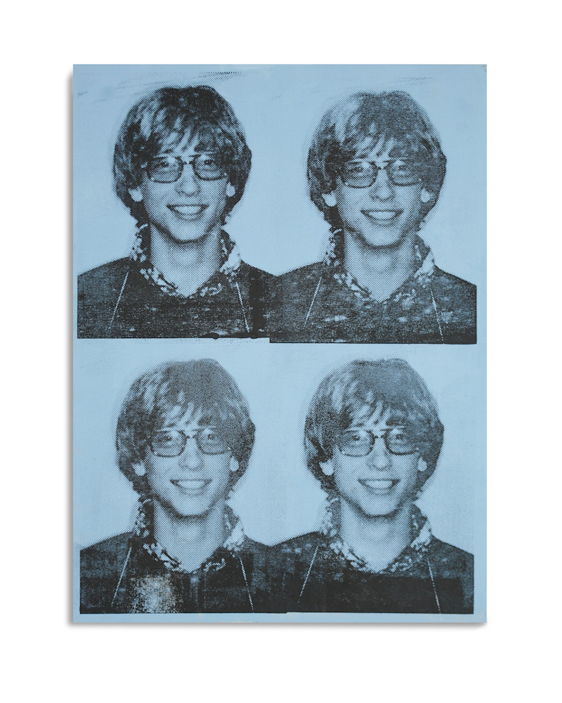 Mugshot Bill Gates Light Blue Mugshot Series Benjamin Alejandro