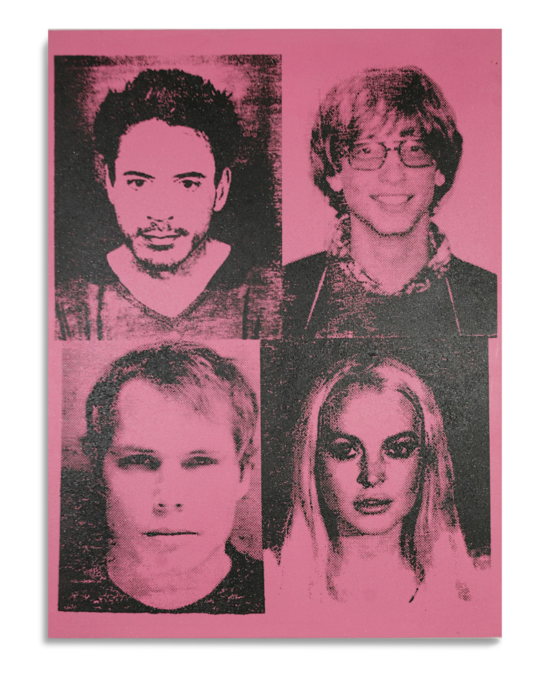 Mugshot Downey Gates Fairey Lohan Pink Mugshot Series Benjamin Alejandro