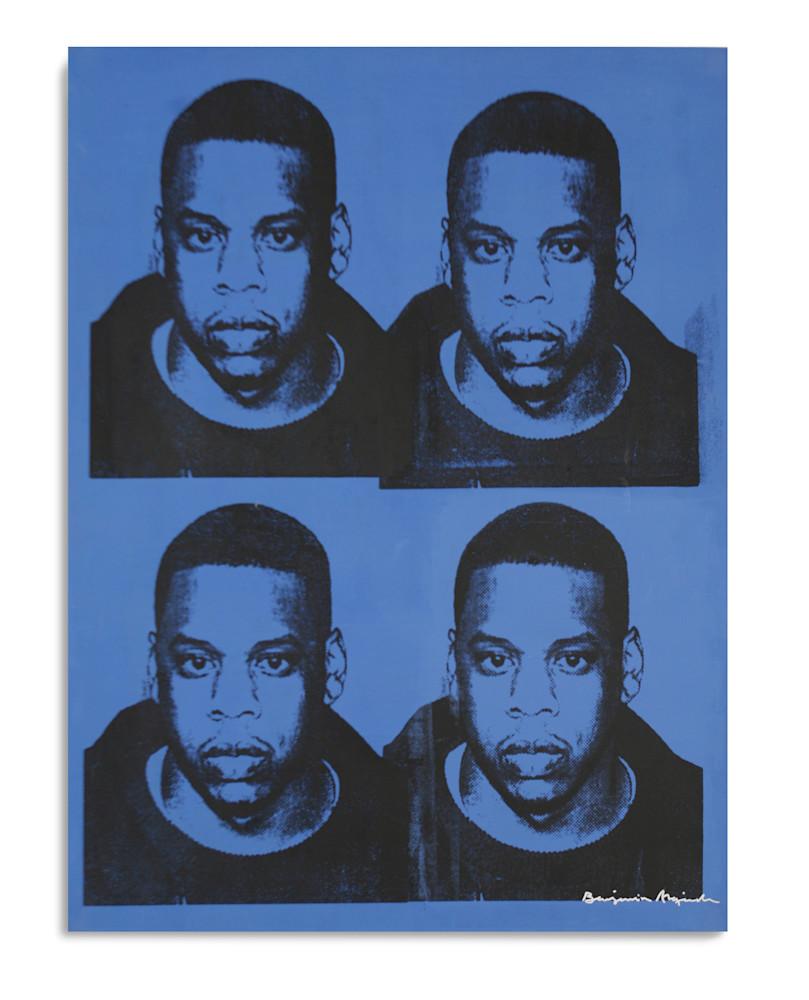 Mugshot Jay Z Blue Mugshot Series 36X48 Benjamin Alejandro