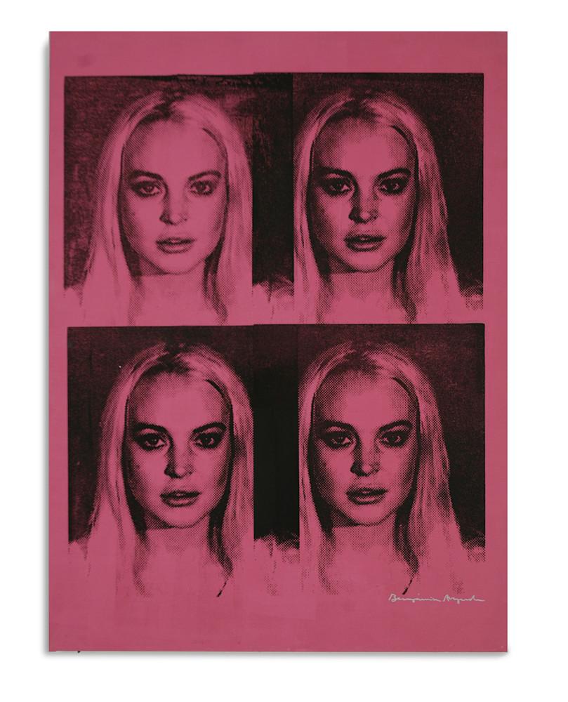 Mugshot Lindsay Lohan Pink Mugshot Series Benjamin Alejandro