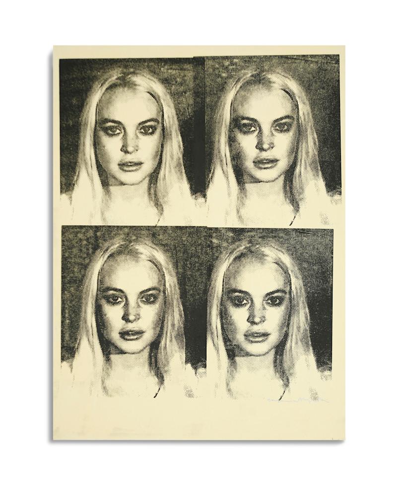 Mugshot Lindsay Lohan Yellow Mugshot Series Benjamin Alejandro