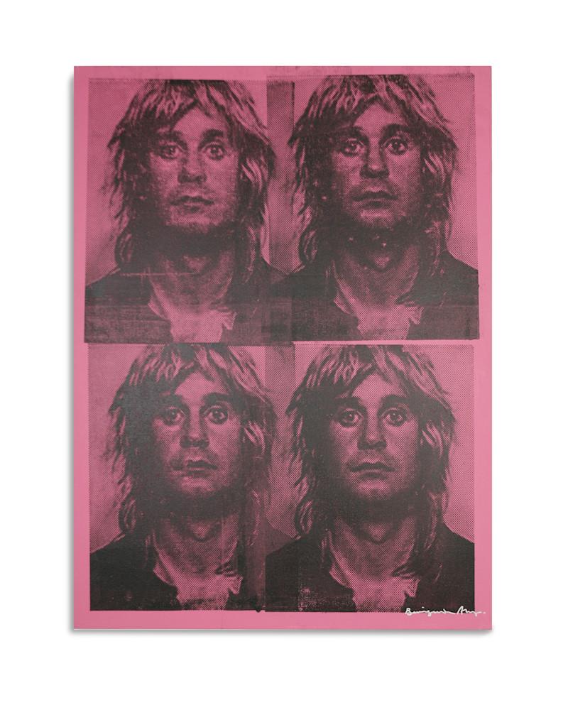 Mugshot Ozzy Osbourne Pink Mugshot Series Benjamin Alejandro