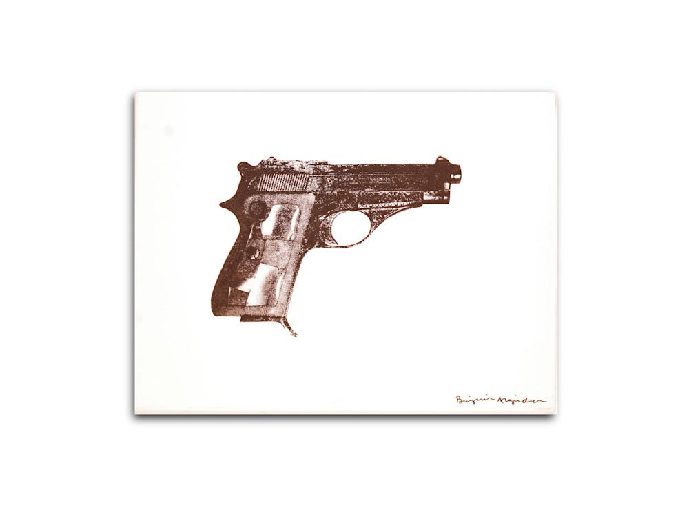 Untitled Elvis Presley Gun Black White Benjamin Alejandro 20X26