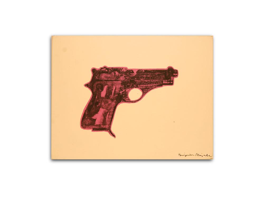 Untitled Elvis Presley Gun Yellow Pink Benjamin Alejandro 20X26