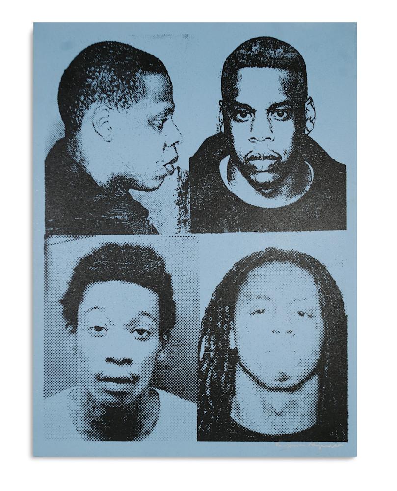 Mugshot Jay Z Wiz Lil Wayne Light Blue Mugshot Series Benjamin Alejandro