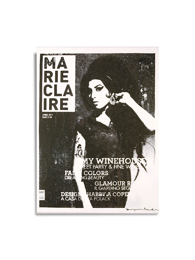 Untitled Marie Claire Amy Winehouse White Black Benjamin Alejandro 20X26